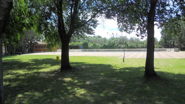 Zona de césped en la Piscina Municipal, Piedralaves